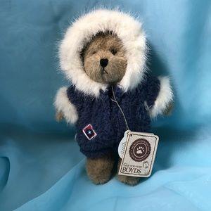"Boyds Plush Stuffed Bear in snow suit 8"""